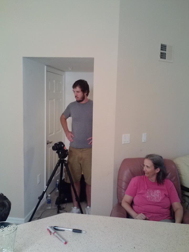 Donna on set