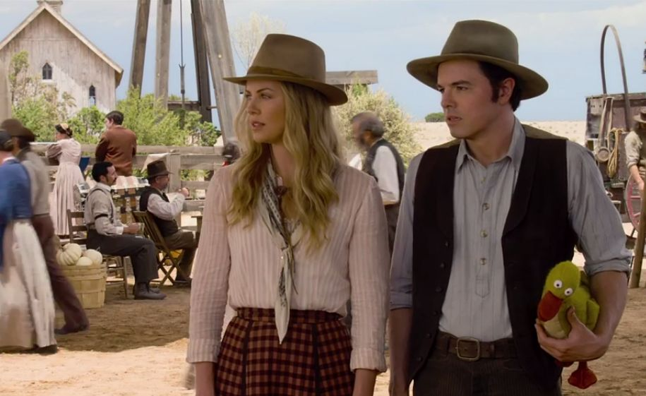 A-Million-Ways-to-Die-in-the-West-Seth-MacFarlane-and-Charlize-Theron-at-the-Fair