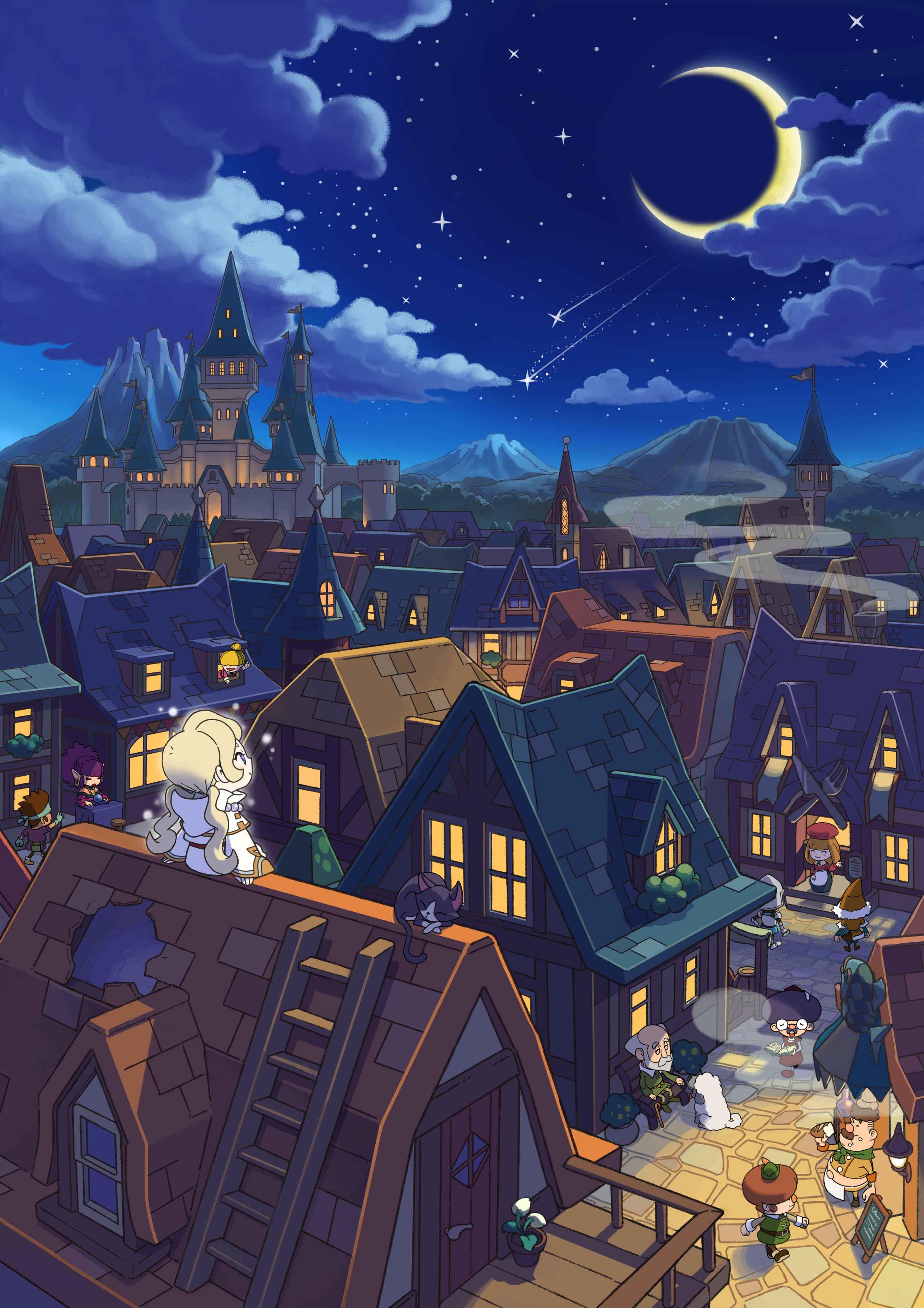 Fantasy Life_ill_Reveria at_ night