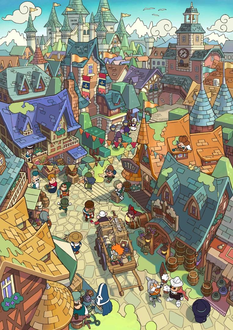 Fantasy Life_ill_Royal Capital_ Castele