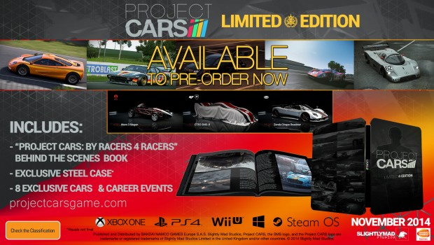 PROJECT CARS RE SCHEDULED FOR MARCH 2015