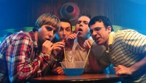 The Inbetweeners_ l-r James Buckley, Blake Harrison, Joe Harris, Simon Bird_