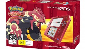 Nintendo 2DS Transparent Red + _Pokémon Omega Ruby
