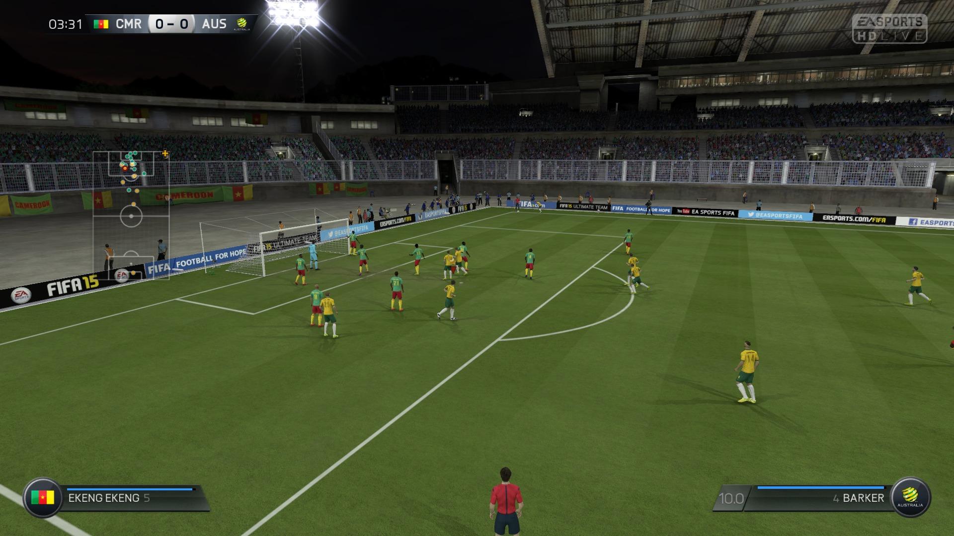 FIFA 15 Career 0-0 CMR V AUS, 1st Half
