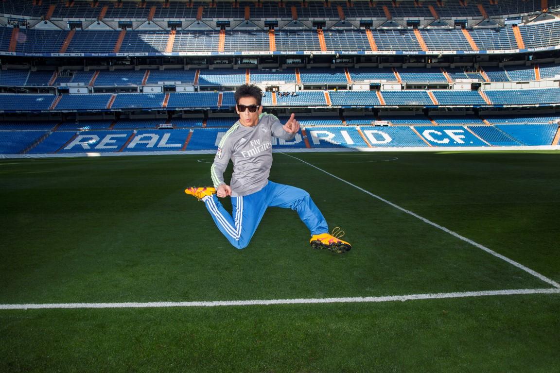 Derek Zoolander visits Santiago Bernab?u Stadium in Madrid, Spain.