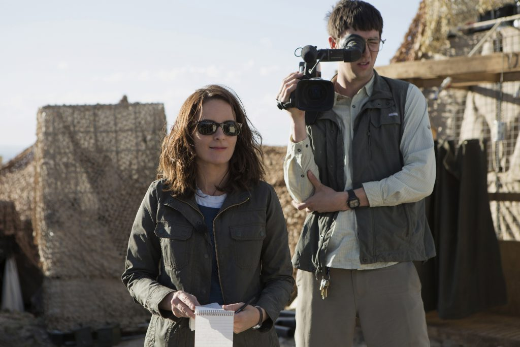 Left to right: Tina Fey plays Kim Baker and Nicholas Braun plays Tall Brian in WHISKEY TANGO FOXTROT. ©Paramount Pictures. CR: Frank Masi.