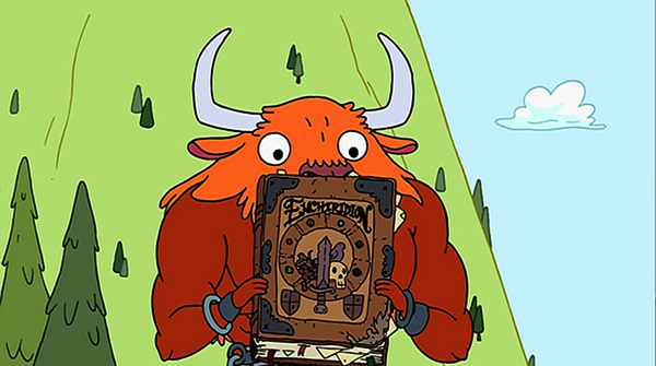 adventure-time-season-1-5-the-enchiridion-minotaur-book-review-episode-guide-list