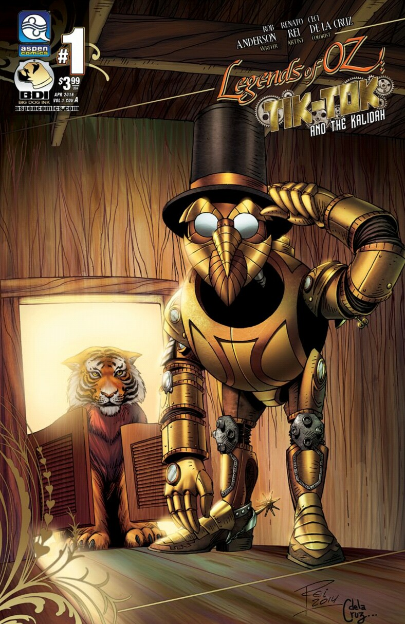 "Cover for ""Legends of OZ: Tik-Tok and the Kalidah #1"""