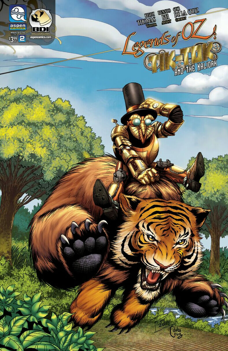 "Cover for ""Legends of OZ: Tik-Tok and the Kalidah"" #2"