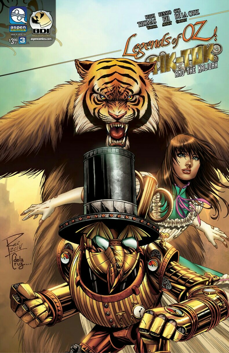"Cover for ""Legends of OZ: Tik-Tok and the Kalidah"" #3"