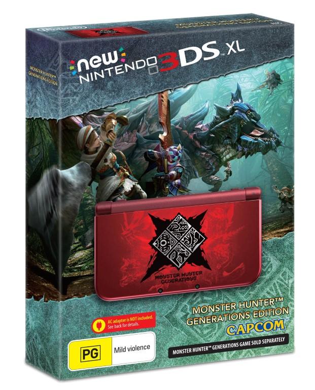 New Nintendo 3DS XL Monster Hunter Generations Edition Packshot