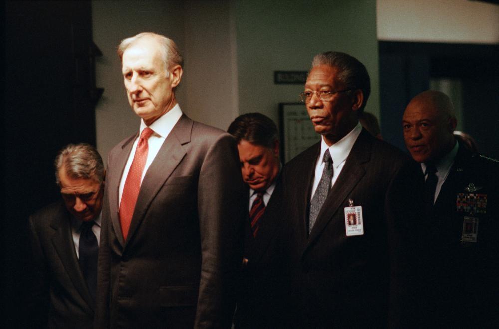 SUM OF ALL FEARS, James Cromwell, Morgan Freeman, 2002 (c) Paramount