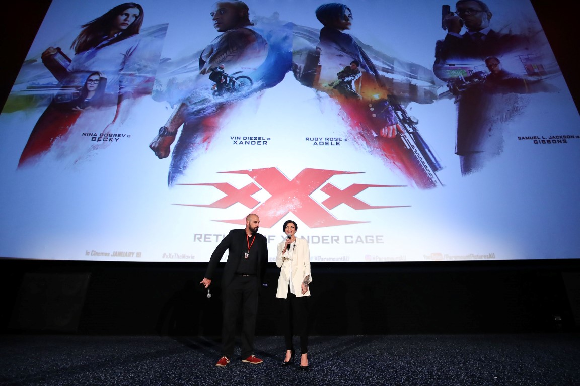 SYDNEY, AUSTRALIA - NOVEMBER 19:  Ruby Rose speaks to the audience at the xXx: 'Return Of Xander Cage' Sydney Fan Event  on November 19, 2016 in Sydney, Australia.  (Photo by Brendon Thorne/Getty Images for Paramount Pictures) *** Local Caption *** Ruby Rose