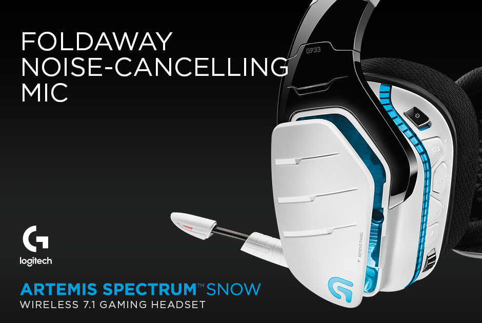 Logitech® G933 Artemis Spectrum™ Snow Wireless 7 1 Gaming
