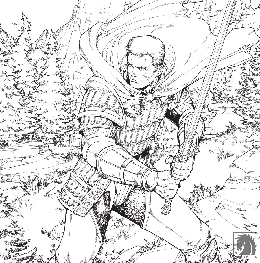 Dragon Age Adult Coloring Book Takes A Safe Approach That Has Enough Detail To Get Your Fine Colouring Skills Active But Not So Much You Lose Sight Of