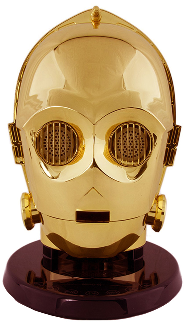 Official star wars c 3po head bluetooth speaker