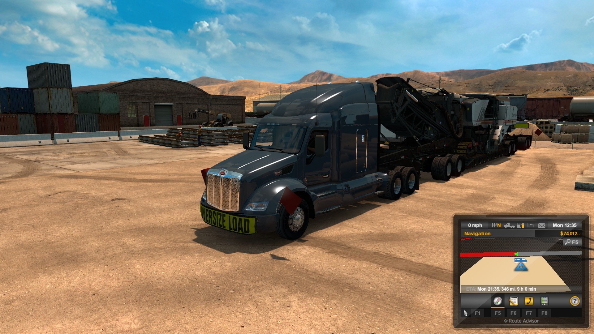 how to play american truck simulator heavy cargo pack