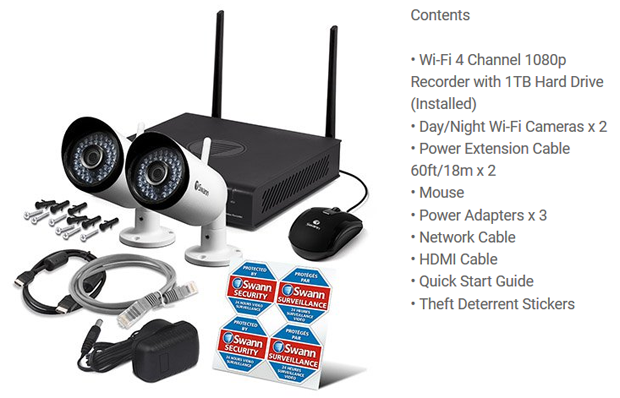 Swann nvw 485 wi fi hd security system review impulse gamer as you can see from the contents above and again swann have included everything you need to setup their security system and our full unboxing video can be solutioingenieria Choice Image