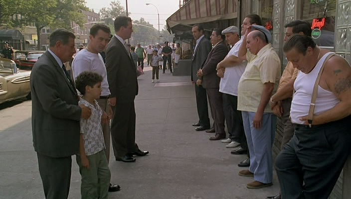 De Niro Does A Fantastic Job Of Playing Sonny Against Lorenzo Calogeros Father And The Appeal They Both Have Calogero Certainly To Parent Could Be