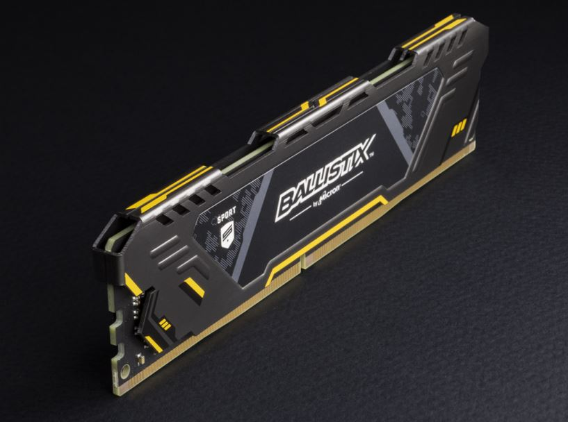 Ballistix Sport AT 32GB Kit (4 x 8GB) DDR4-3000 UDIMM Gaming Memory