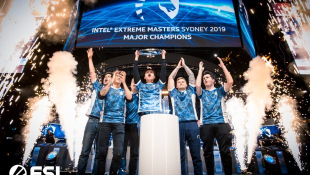 IEM Sydney 2019 champions Team Liquid holding the trophy