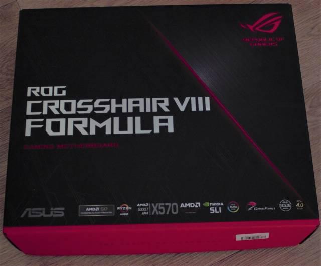 ASUS ROG CROSSHAIR VIII FORMULA - unsealed box as delivered