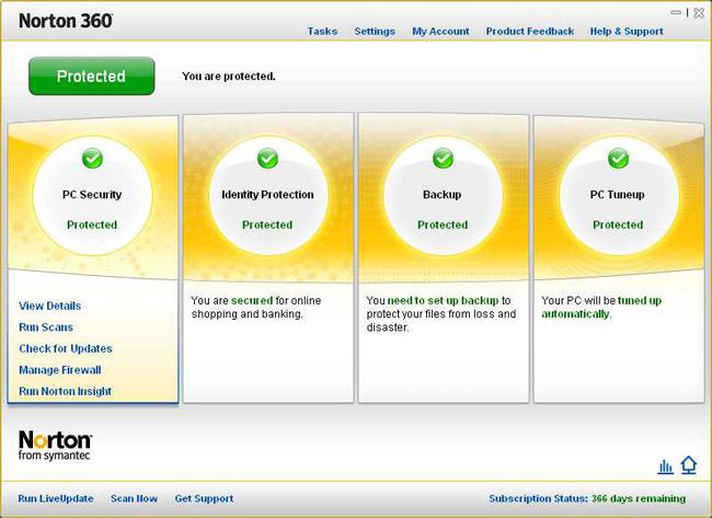 Norton 360 версии 4.0 гарантирует высочайшую производительность, представля