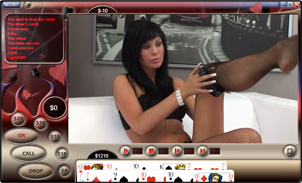 Understand this porn strip poker game you