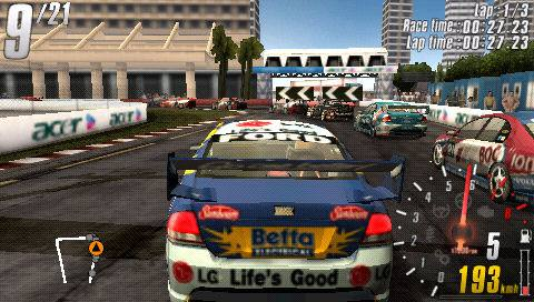 V8 Supercars 3 Shootout PSP Review - www.impulsegamer.com -